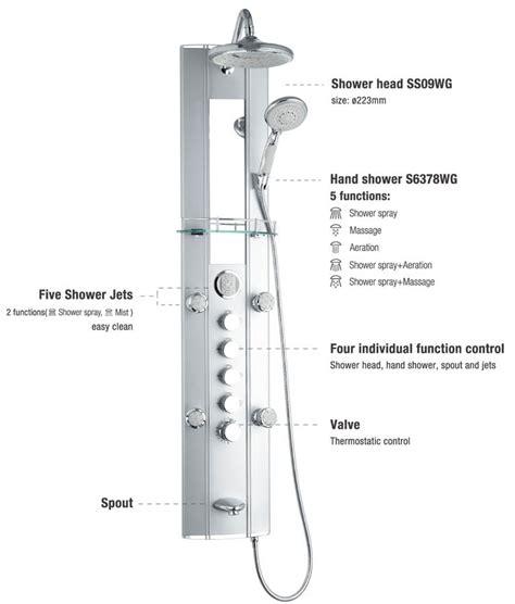 termostato doccia pannello doccia idromassaggio termostato allu sanlingo