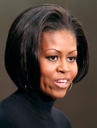 changing from a bob hairstyle from bob to bangs us first lady michelle obama s changing