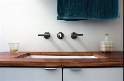 Marine plywood bathroom countertops   Architectural Gems