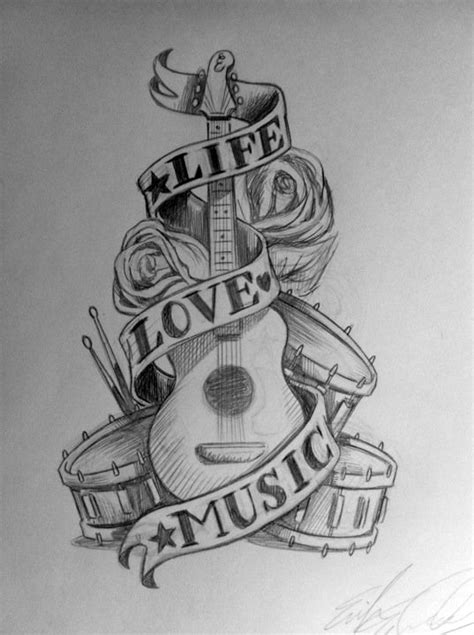 i love music tattoo designs by simianbrothers on deviantart