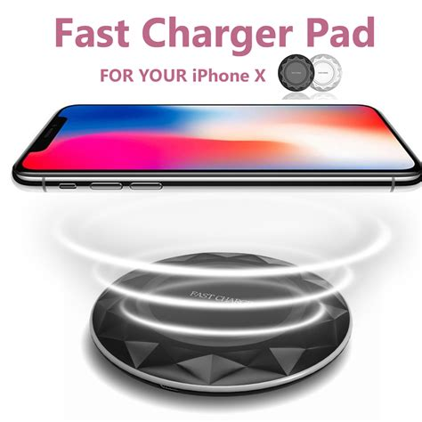 iphone fast charger wireless qi fast charger thin charging pad for iphone 8 8p iphone x samsung s8 sale banggood