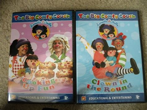 the big comfy couch dvd set big comfy couch 2 dvd set clown in the round cooking up