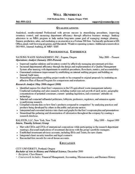Career Objective Essay Mba by Business School Admissions Resume