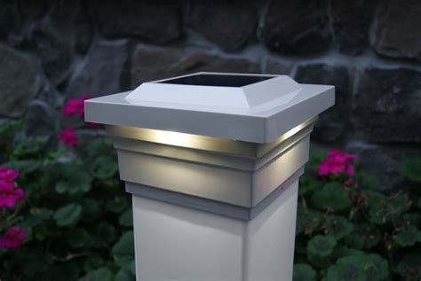 majestic      outdoor tan vinyl led solar post