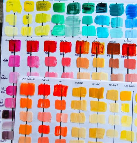 acrylic paint color chart 62 best images about acrylic paint on