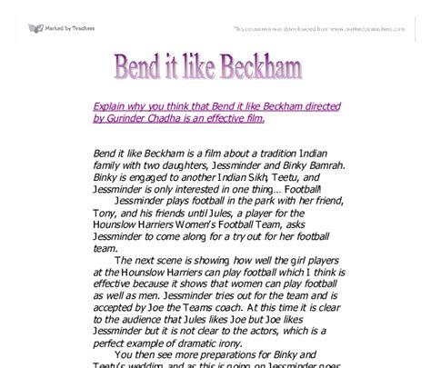 Bend It Like Beckham Essay by Bend It Like Beckham Essay