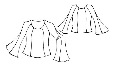 blouse sewing pattern 8004 made to measure sewing blouse with raglan sleeves and guipure inset sewing