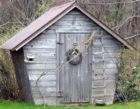 rustic antique potting shed