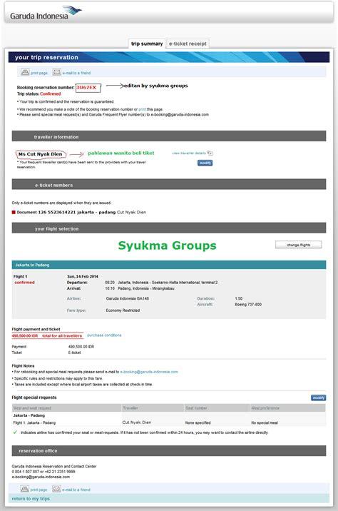 email garuda indonesia contoh tiket booking konfirmasi garuda indonesia