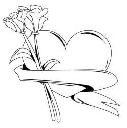 hearts roses free coloring pages art coloring pages