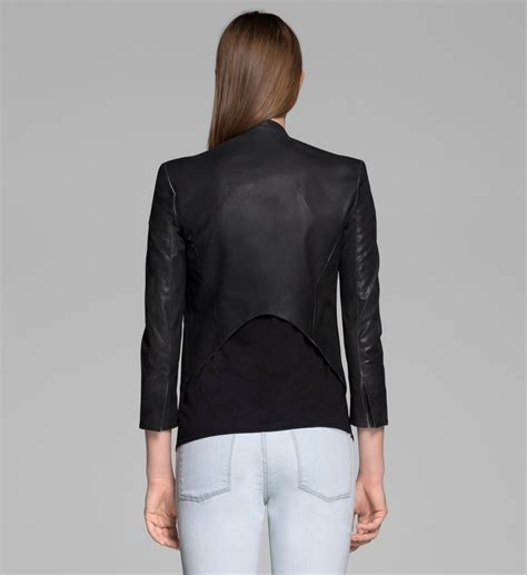 Blazer Cotton Stretch Rony helmut lang coated stretch cotton tuxedo blazer in black lyst
