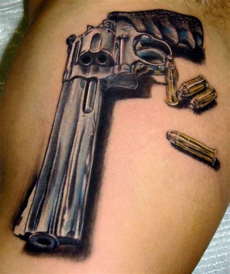 3d tattoo gun 40 awesome pistol gun tattoos design ever made