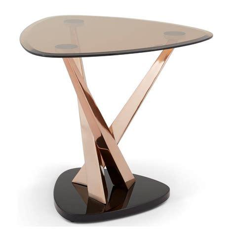 rose gold table larissa l table rose gold modish furnishing