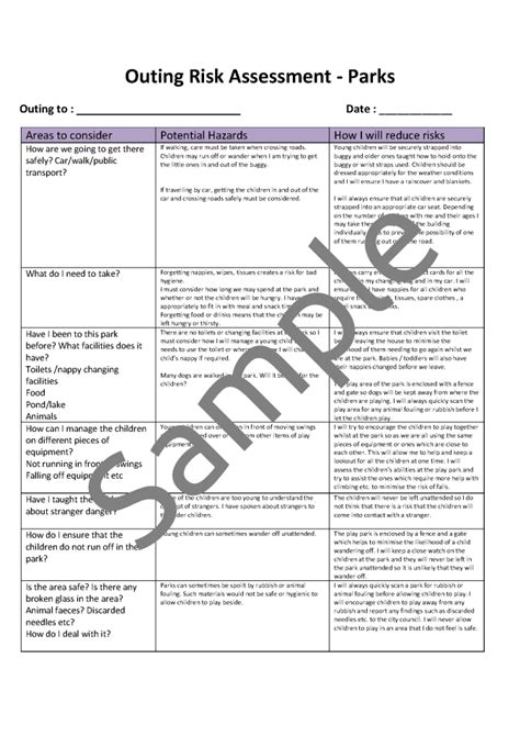 risk assessment template residential 22 images of residential risk assessment template