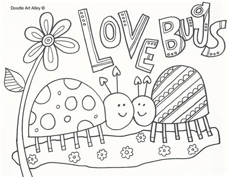 love bug coloring page quote coloring pages of love coloring page about love