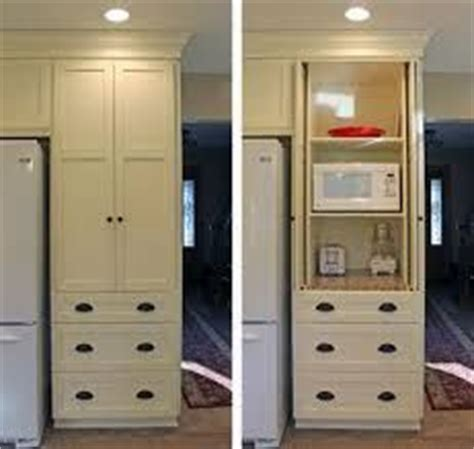 Kitchen Renovation image result for ways to hide microwave in cabinets