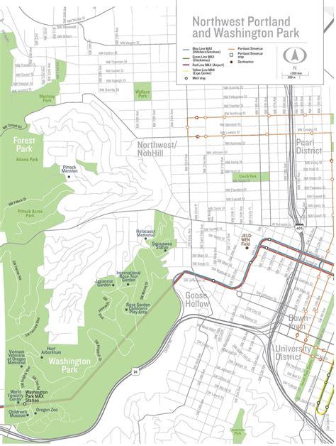 portland usa map portland washington park map