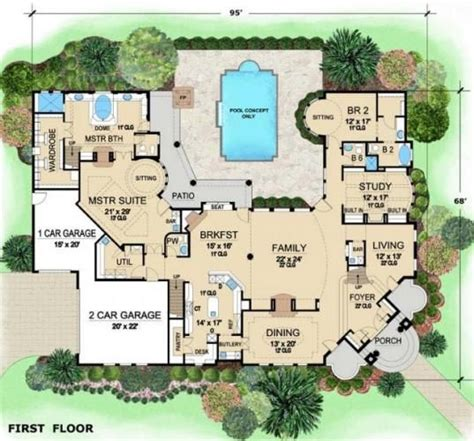 Mansion Layouts Luxurious Mediterranean Mansion House Plan Villa Visola Floor Ideas Pinterest House