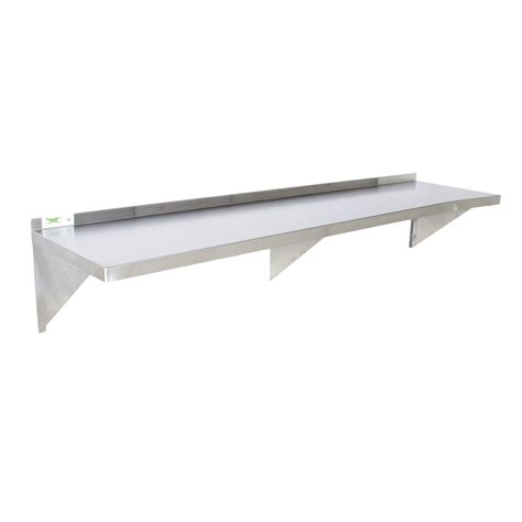 stainless steel wall shelving regency 16 stainless steel 18 quot x 96 quot heavy duty wall