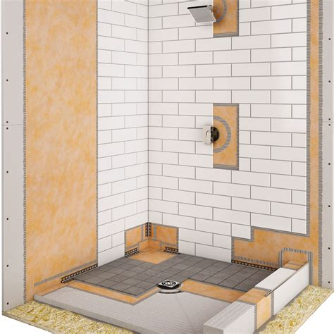bathroom membrane system image gallery kerdi shower system