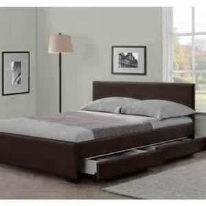 modern italian designer 4 drawer leather bed luxury