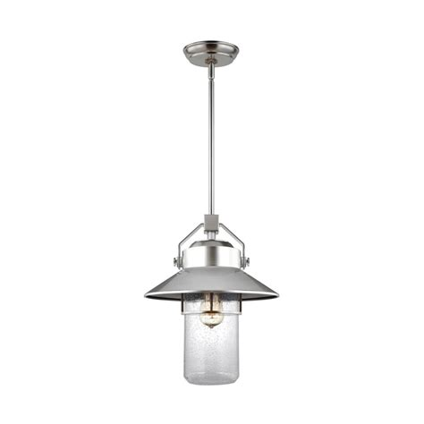Brushed Steel Pendant Light Feiss Boynton 1 Light Painted Brushed Steel Outdoor Hanging Pendant Lantern Ol13912pbs The