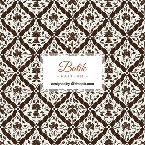 modern batik pattern vector ornamental pattern of batik flowers vector free download