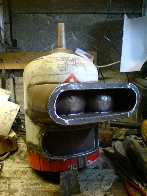 Handmade Wood Burning Stoves - builds a wood burning stove that looks like futurama s