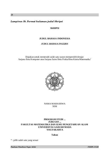 format penulisan cover skripsi 179663989 format penulisan ta ugm