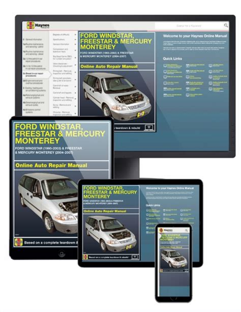 Ford Windstar Freestar Amp Monterey Online Manual 1995 2007