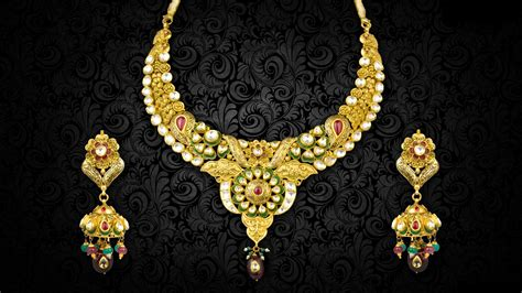 wallpaper gold jewellery necklaces and pendent set jewellery images new hd