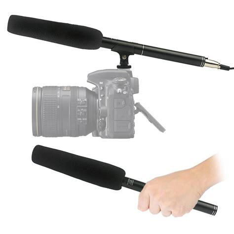 dslr professional professional dslr shotgun microphone black