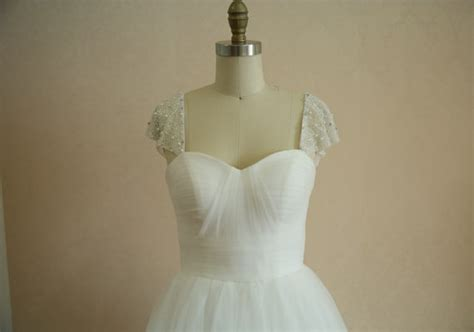 popular items for tulle pearl on etsy reem acra inspired tulle wedding dress pearl beaded by