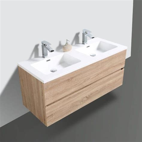 avia white oak timber double bowl vanity indulge