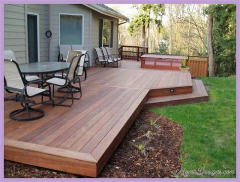 Deck Ideas For Backyard Outdoor Deck Designs Small Yard 1homedesigns