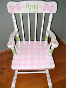children personalized and painted rocking chair
