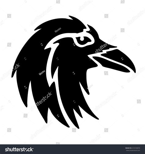 raven head stock vector 410193070 shutterstock