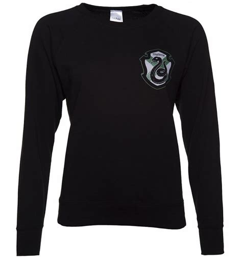 Harry Potter Sweater Black s black harry potter slytherin crest sweater