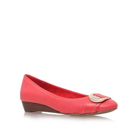 loafers heels klein ruthie low heel loafer shoes in pink lyst