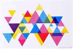 color triangle triangles process color triangle print 20