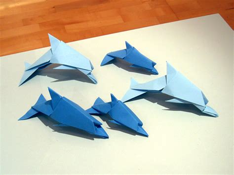 How To Make Origami Dolphin - dolphin origami 28 images origami dolphin by cake