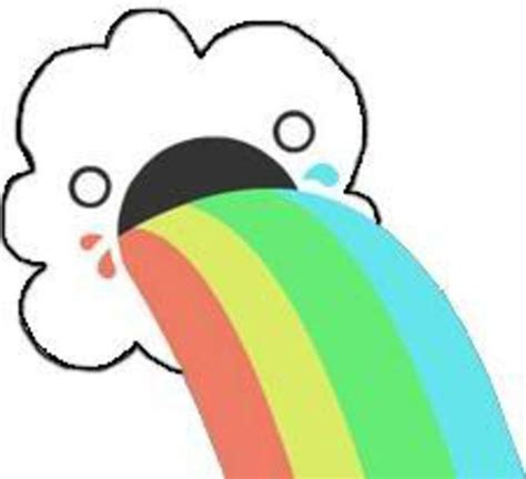Rainbow Face Meme - puking rainbows meme www imgkid com the image kid has it