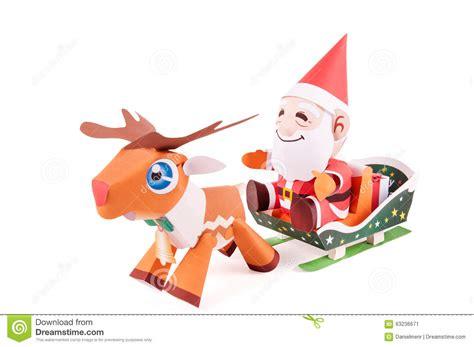 Santa Claus Paper Craft - santa claus papercraft stock illustration image of