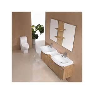 meuble salle de bain de luxe en bois massif ref sd693bn