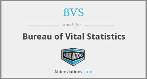 Office Of Vital Statistics Bvs Bureau Of Vital Statistics