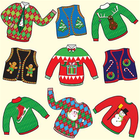 design your own ugly christmas sweater digital fabric