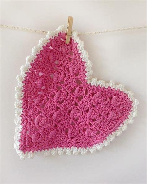 crochet pattern heart dishcloth pink dishcloth set crochet pattern maggie s crochet