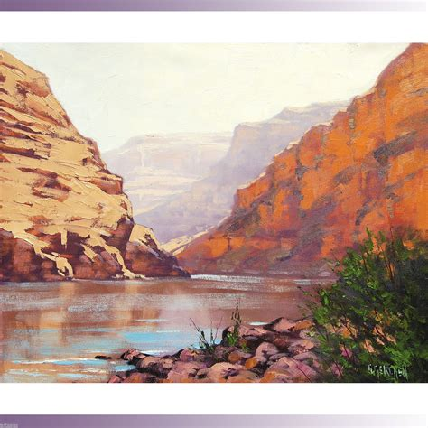 grand canyon painting arizona desert landscape original southwestern oil art ebay