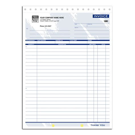 business forms invoice free shipping