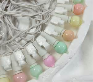 vintage pastel string lights indoor outdoor cer rv easter